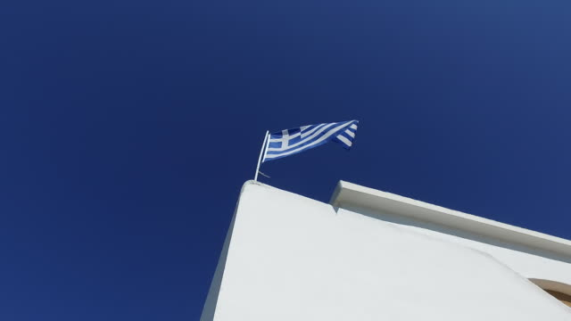 places to visit - kefalonia - greek flag stock videos & royalty-free footage