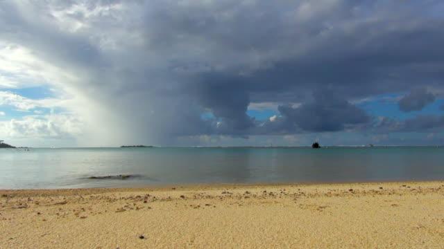 vídeos de stock e filmes b-roll de placid water in the seashore - territórios ultramarinos franceses
