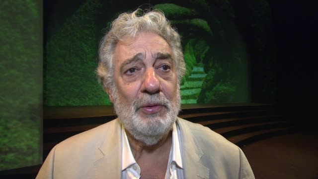 placido domingo on the opera dulce rosa at the broad stage and opera present world premiere of dulce rosa conducted by pl‡cido domingo on 5/16/13 in... - monica singer stock videos & royalty-free footage