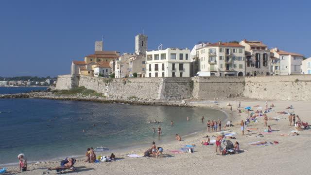 Plage de la Gravette. Antibes. Cote D'Azur.