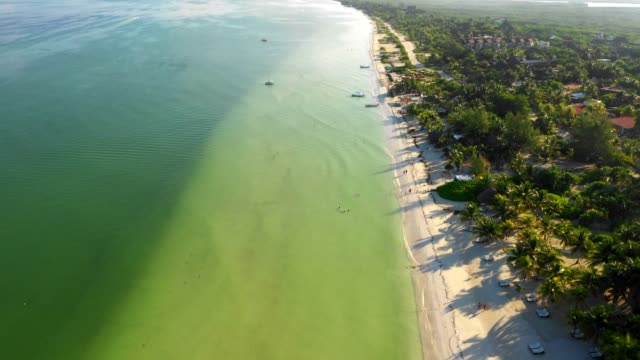 vídeos de stock, filmes e b-roll de plage paradisiaque au yucatan - yucatán