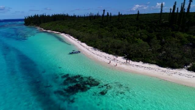 vídeos y material grabado en eventos de stock de plage paradisiaque en nouvelle-calédonie - territorios franceses de ultramar