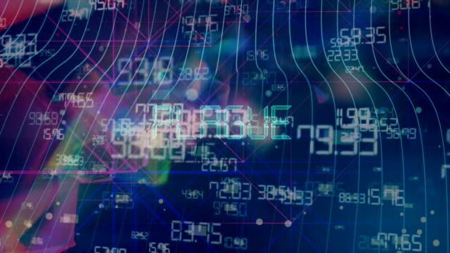 animazione del titolo della peste - vettore della malattia video stock e b–roll