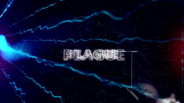 sfondo del titolo della peste - vettore della malattia video stock e b–roll