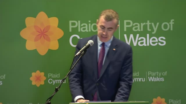plaid cymru elects adam price as new leader wales cardiff adam price speech sot - price stock videos and b-roll footage