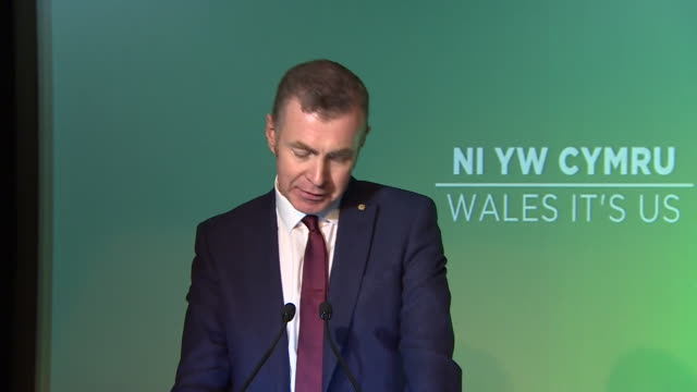 plaid cymru leader adam price saying we want to be at the heart of europe on our own terms in our own right standing proud - pattern stock videos & royalty-free footage