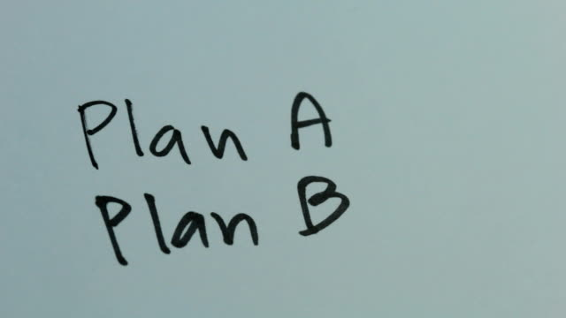 plan b - strategy stock videos & royalty-free footage