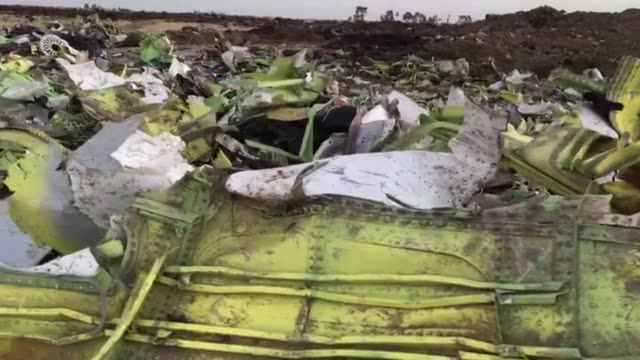 plane debris at the crash site of flight et302 ethiopian airlines boeing 737 max8 bishoftu ethiopia - wreck stock videos & royalty-free footage