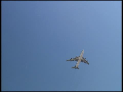 Aereo vola verso il sole