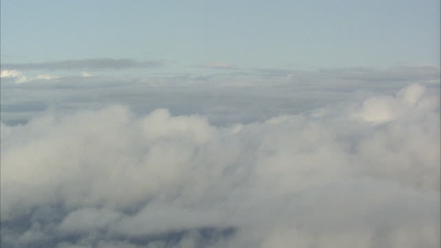 pov, plane flying through clouds - moving process plate stock videos and b-roll footage