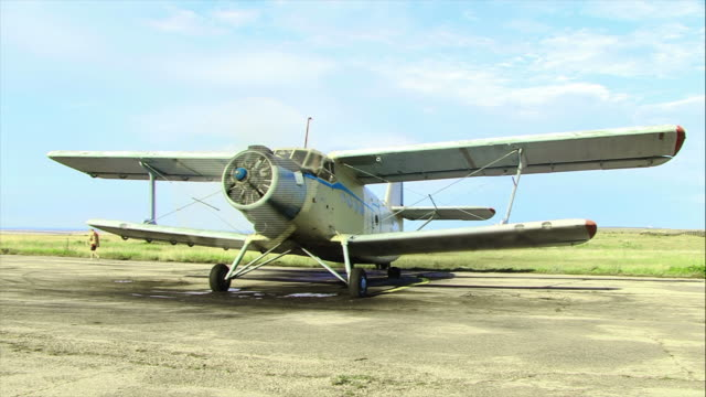 plane going to fly - biplane stock videos & royalty-free footage