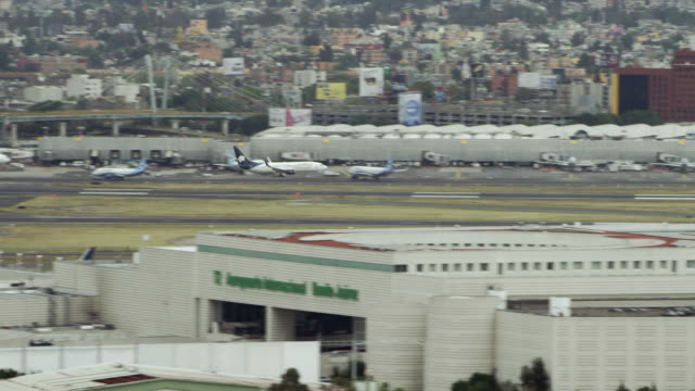 Plane Lands At Mexico International Airport