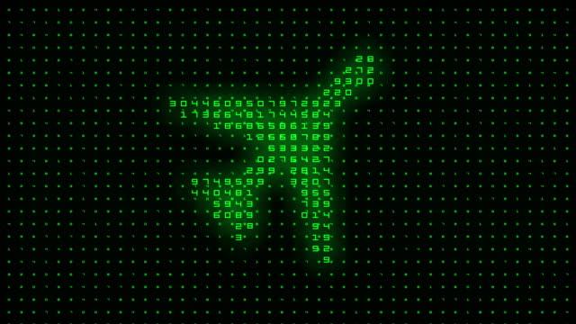 plane symbol on binary background - digital enhancement stock videos & royalty-free footage