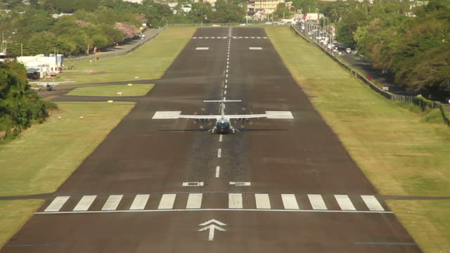 A plane takes off Antigua