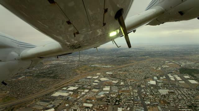 plane takes off over el paso - ciudad juarez border - chihuahua stock videos & royalty-free footage