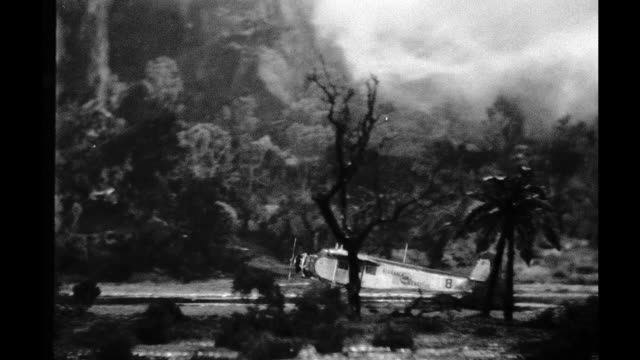 1939 - Plane taking off in storm