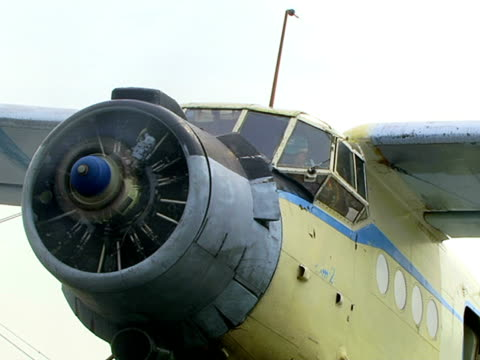 plane with propeller - biplane stock videos & royalty-free footage