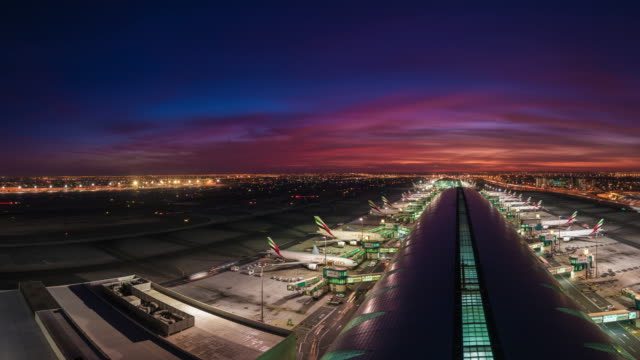 Planes arriving at Gate Sunrise, Dubai Airport, Dubai