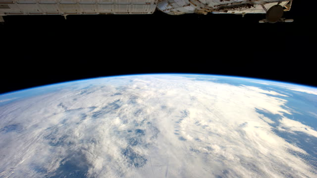 Planet Earth aerial view from the ISS or International Space Station