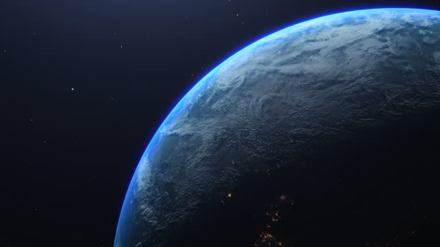 planet earth amazing view from space - orbiting stock videos & royalty-free footage