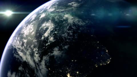 vídeos y material grabado en eventos de stock de planet earth and south america - hispanoamérica