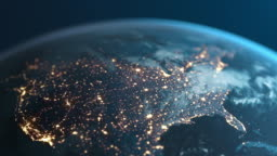 Planet Earth At Night - North America Seen From Space - United States Of America