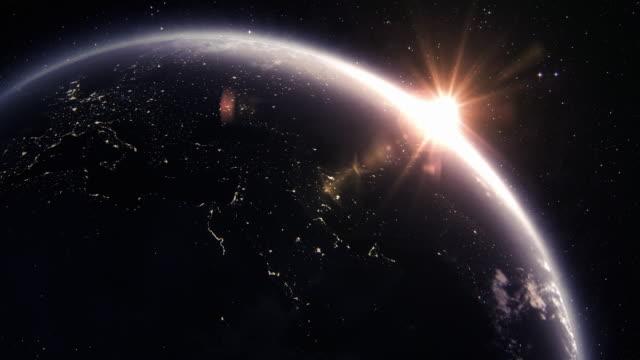 Planetjorden på natten