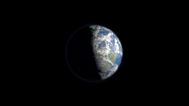 Planet Earth, day and night from space.