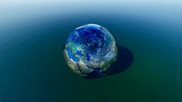 planet earth for world water day - responsibility stock videos & royalty-free footage