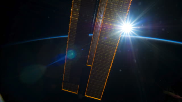 stockvideo's en b-roll-footage met planet earth from iss: sun movements during the soltice - meer dan 30 seconden