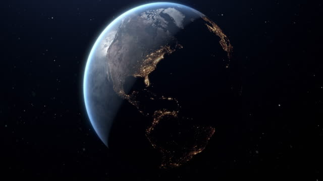 planet earth from space eu europe and america - global stock videos & royalty-free footage