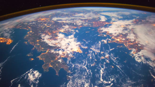 planet earth from space, point of view from the international space station - mediterranean sea stock videos & royalty-free footage
