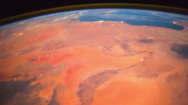 planet earth from space, point of view from the international space station - sahara desert stock videos & royalty-free footage