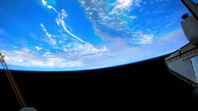 planet earth from space, point of view from the space shuttle discovery, april 2010 - space shuttle discovery stock videos & royalty-free footage