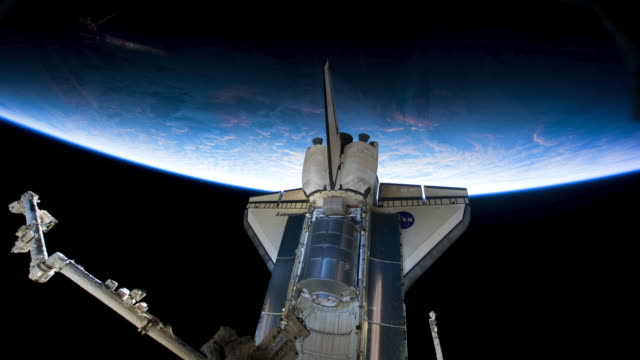 planet earth from space, point of view from the space shuttle discovery, april 2010 - space exploration stock videos & royalty-free footage