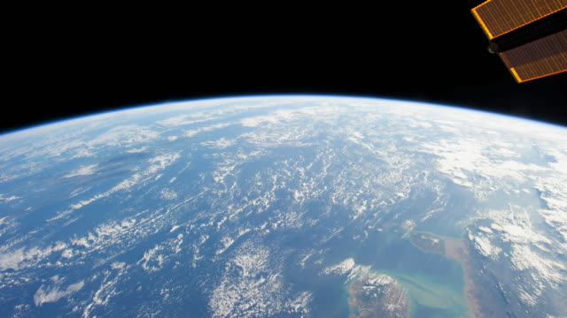 planet earth from the iss: day and night changes in the world - globe navigational equipment stock videos & royalty-free footage