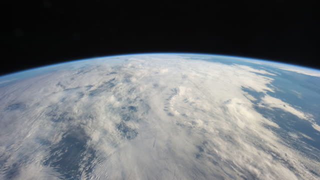 planet earth from the iss: night to day to night again - cambiamento video stock e b–roll
