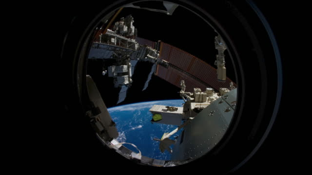 Planet Earth from the JEM Window in the ISS or International Space Station