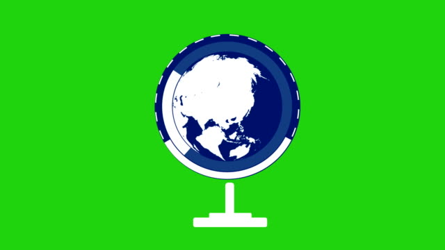 planet earth globe rotating with infographic vector animation - global communications vector stock videos & royalty-free footage