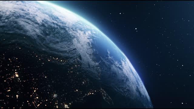 planet erde im weltraum - herumwirbeln stock-videos und b-roll-filmmaterial