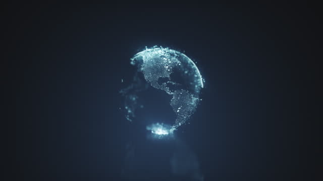 planet earth motion graphics - europa continente video stock e b–roll