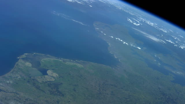 Planet Earth seen from space. High angle view from the International Space Station