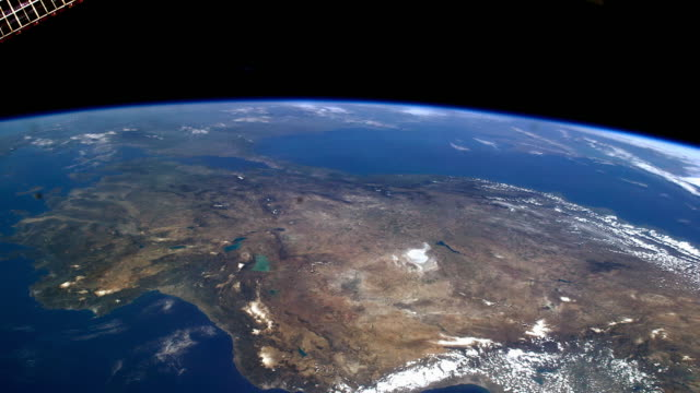 planet earth seen from space. high angle view from the international space station - planet earth stock videos and b-roll footage