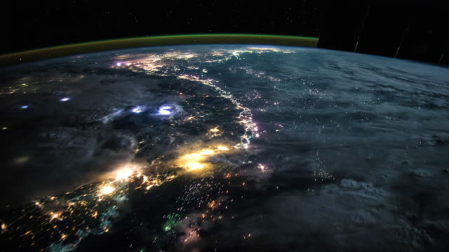 planet earth seen from space. real video. no cgi. taken from international space station - rocket stock videos & royalty-free footage