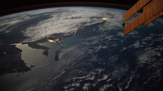 planet earth seen from space. real video. no cgi. taken from international space station - high up stock videos & royalty-free footage
