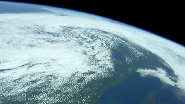 Planet Earth seen from Space. The International Space Station explores every corner of our beautiful blue planet