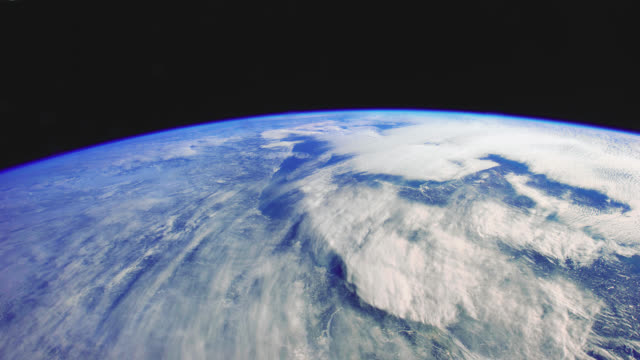 planet earth seen from the international space station - raumschiff stock-videos und b-roll-filmmaterial