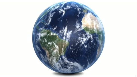 planet earth with correct rotation 1080p - spinning stock videos & royalty-free footage