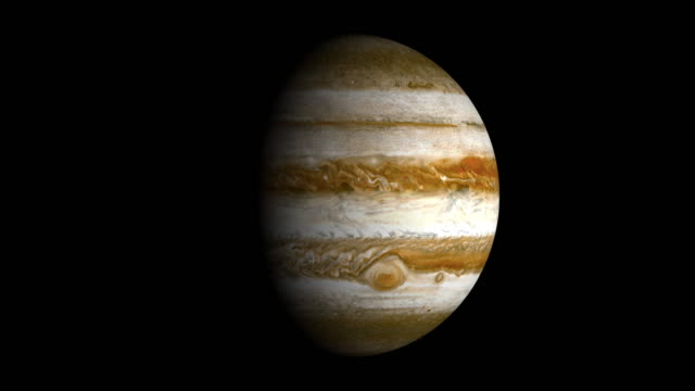 planet jupiter spin loopable elements isolated with luma matte - matte stock videos & royalty-free footage