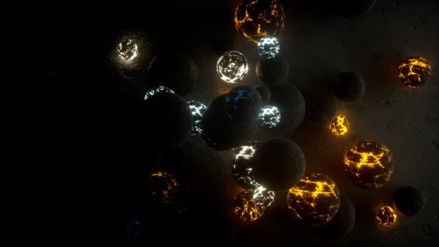 vidéos et rushes de planet like spheres poping from nowhere - heurter